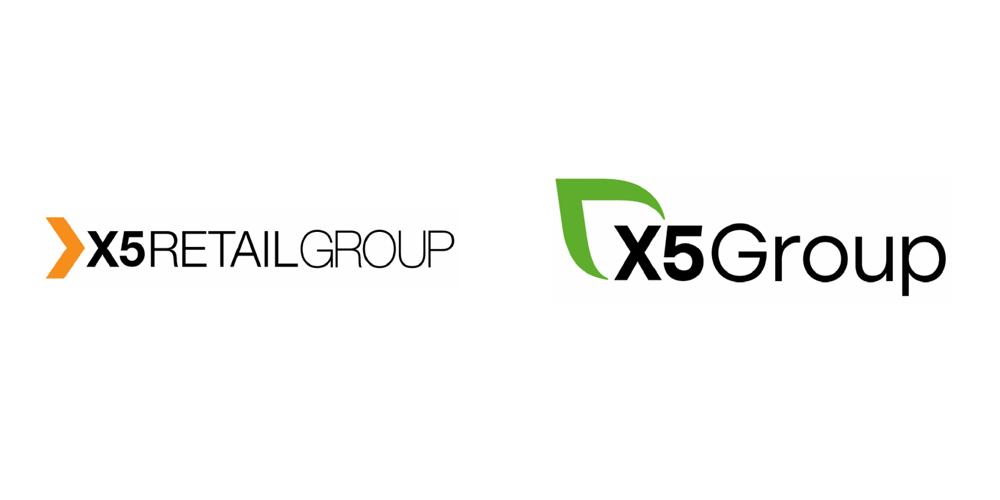 X5零售集团新旧LOGO对比